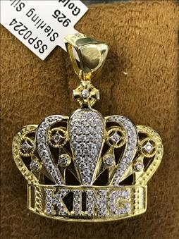 King's Crown Pendant Sterling Silver