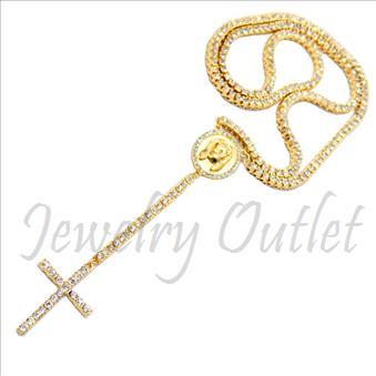 Hip Hop Fashion 1 Row Crystal Rosary Beautiful Shiny Stones