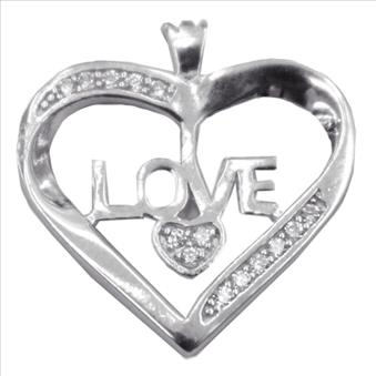 Ladies Silver Pendant