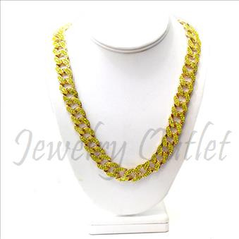 Hip Hop Fashion Cuban Color Stone Chain With 30 Inch
