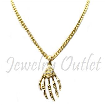 Hip Hop Fashion Cuban Necklace and pendant Set With 24 Inch Chain