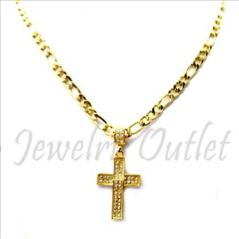 Hip Hop Fashion Figaro Necklace and pendant Set With 24 Inch Chain
