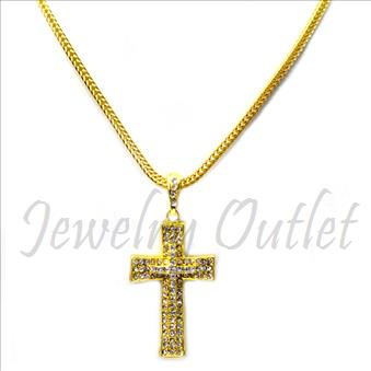 Hip Hop Fashion Necklace and pendant Set With 24 Inch Franco Chain