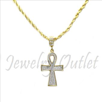 Hip Hop Fashion Necklace and pendant Set With 24 Inch Rope Chain