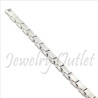 Stainless Steel Mens Bracelets With CZ