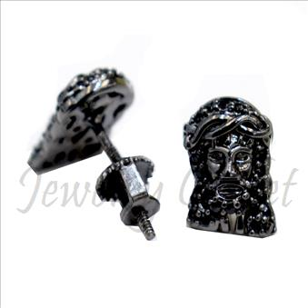 JESUS Face Mens Earrings