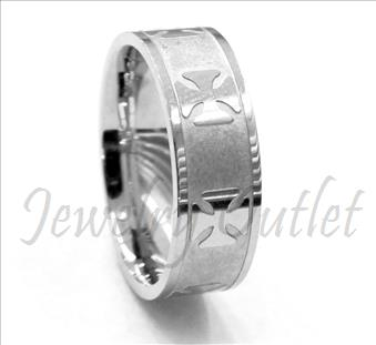 Stainless Steel Mens Comfort Fit Band