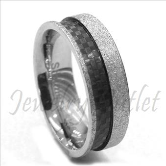 Stainless Steel Comfort Fit Band With Two Deign