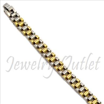 Stainless Steel Men's Bracelets In Yellow & Silver Plating
