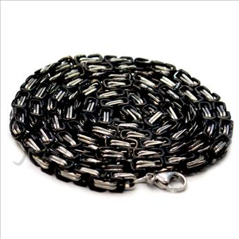 Stainless Steel Mens Link Chain Necklace in 6 MM And 36 Inch