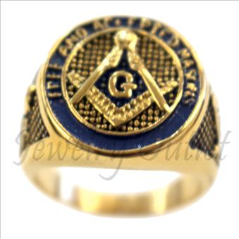 Stainless Steel Masonic Mens Ring