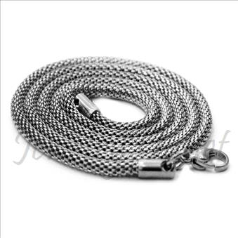 Stainless Steel Mens Python Necklaces in 2 MM With 24 Inch