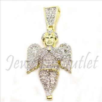 Sterling Silver 925 Angel Mens Pendant