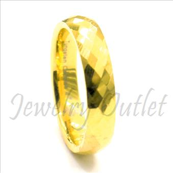 Tungsten Carbide Two Tone High Polished Band