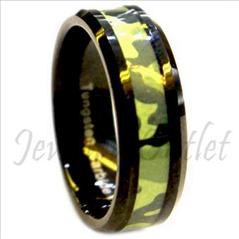 Tungsten Carbide Mens Ring with Comfort Fit