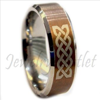 Tungsten Carbide Mens Ring Beveled Edges & Comfort Fit Ring (Sold Out)