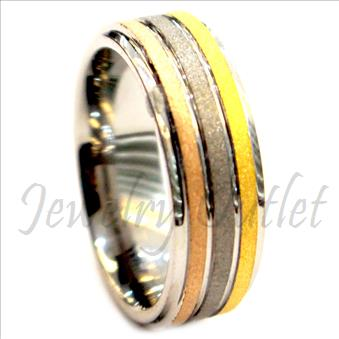 Tungsten Carbide Mens Ring Beveled Edges & Comfort Fit Ring(Sold Out)