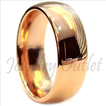 Tungsten Carbide Mens Ring with High Polished