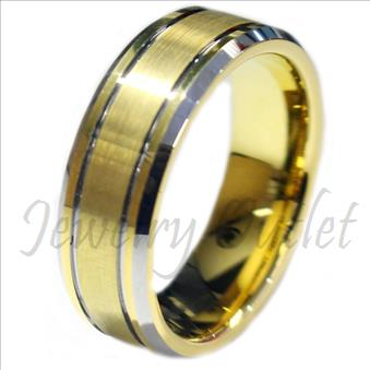 Tungsten Carbide gold plated ring